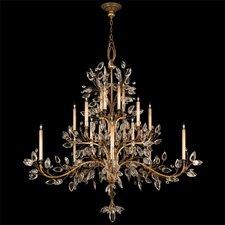 Crystal Laurel Gold 20 Light Chandelier