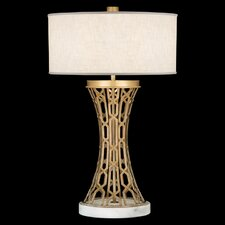 """Allegretto Gold 32"""" H Table Lamp with Drum Shade"""