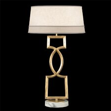 """Allegretto Gold 34"""" H Table Lamp with Empire Shade"""