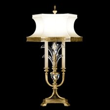 "Beveled Arcs 34"" H Table Lamp with Bell Shade"