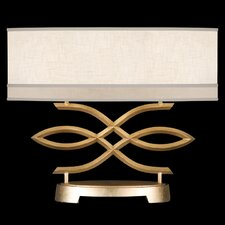 """Allegretto Gold 21"""" H Table Lamp with Rectangular Shade"""