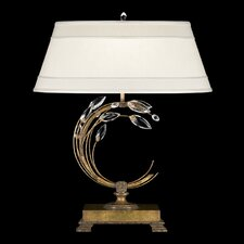 """Crystal Laurel Gold 31"""" H Table Lamp with Empire Shade"""