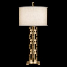 """Allegretto Gold 33"""" H Table Lamp with Drum Shade"""