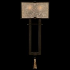 Singapore Moderne Silver Two Light Wall Sconce