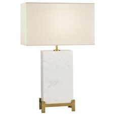 "White Marble 29"" H Table Lamp"