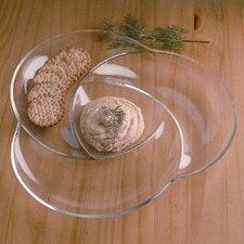 Grainware Necessities Swirl Divided Serving Dish