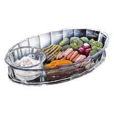Grainware Grotto Chip & Dip Tray