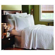 Matelassé Season Stone Washed Coverlet