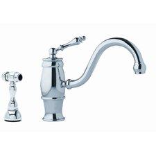 Farm House Single Handle One Hole Arc Bar Kitchen Faucet with Side Spray