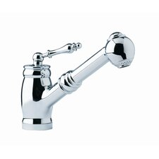 Farm House Single Handle Single Hole Pullout Bar Kitchen Faucet with Side Spray