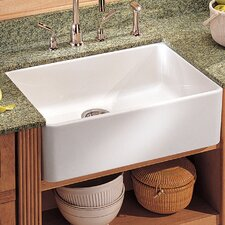 "Manor House 19.69"" x 15.75"" Fireclay Apron Front Kitchen Sink"