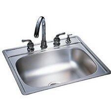 "Kindred 22"" x 25"" 4 Hole Single Bowl Kitchen Sink"