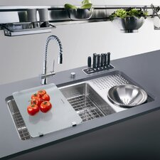 "34.06"" x 17.75"" Culinary Work Center Kitchen Sink"