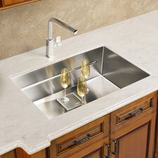 "Peak 17.75"" x 14.56"" Single Bowl Kitchen Sink"