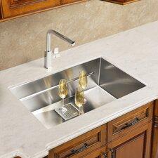 "Peak 19.75"" x 17.75"" Single Bowl Kitchen Sink"