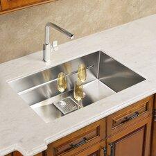"Peak 17.75"" x 16.88"" Single Bowl Kitchen Sink"
