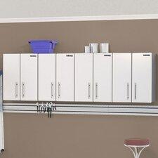 Ulti-MATE Storage 2.5' H x 8' W x 1' D 4-Piece Wall Cabinet Set