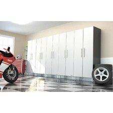 "Ulti-MATE Garage PRO 82.8"" H x 177.5"" W x 21"" D 5-Piece Tall Cabinet Set Complete Storage Sytem"