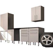 Garage PRO 7' H x 11' W x 2' D 6 Piece Storage System with Workstation