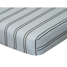 Baby Basics Striped Flat Crib Sheet