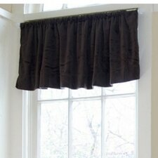 "Minky 54"" Chocolate Curtain Valance"