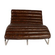 Perici Leather Double Chaise Lounge