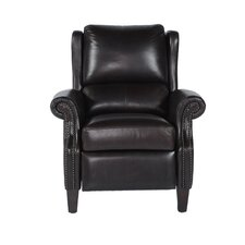 Peter Leather Bustle Back Recliner