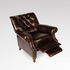 Philip Tufted Back Top Grain Leather Recliner