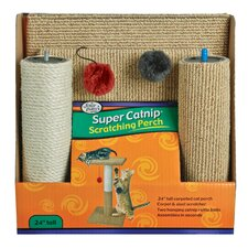 Carpet and Sisal Scratching Perch