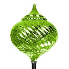 Solar Medium Onion Finial Garden Stake