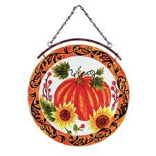 Pumpkin Glass Suncatcher