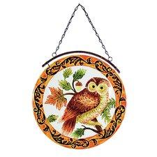 Owl Glass Suncatcher