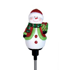 Solar LED Spinning Stake Snowman Christmas Decoration