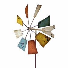 Vintage Square Windmill Garden Stake