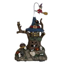 Scary Face Tree House with Flying Witch