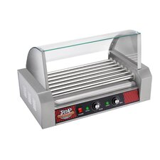 Top Dawg Commercial 7 Roller Hot Dog Machine with Cover