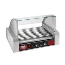 Mad Dawg Commercial 9 Roller Hot Dog Machine with Cover
