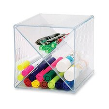 "Storage Organizer, X-Cube, 6""x6""x6"", Clear"
