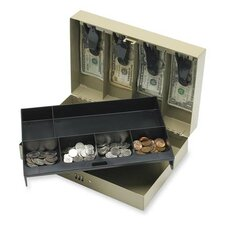 "Combination Lock Cash Box, Steel, 11-1/2""x7-3/4""x3-1/4"", Gray"