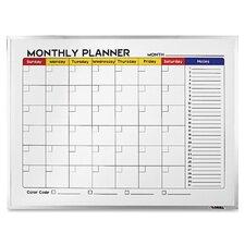 Dry-Erase Wall Mounted Calendar/Planner Whiteboard