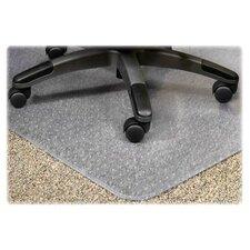 PlushMat Medium Plush Pile Carpet Beveled Edge Chair Mat