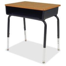 Wood Adjustable Height Open Front Desk (Set of 2)