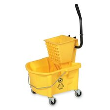 Splash Guard Mop Bucket/Wringer in Yellow & Black