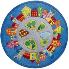 Town Blue Area Rug