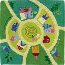 Play World Green Area Rug