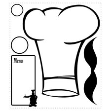 Deco 5 Piece Chef's Hat Dry Erase Giant Wall Decal