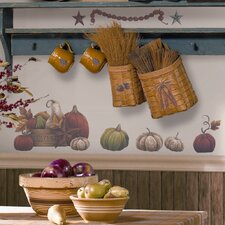 Seasonal Bountiful 24 Piece Harvest Wall Decal