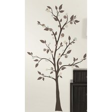 47 Piece Deco Mod Tree Peel and Stick Giant Wall Decal Set