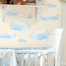 Studio Designs 19 Piece Clouds Wall Decal