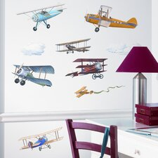 Studio Designs 22 Piece Vintage Planes Wall Decal